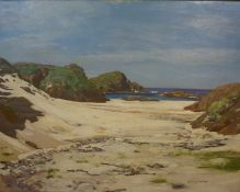 """George Houston RSA RSW RI (Scottish 1869-1947) """"Iona"""" Oil on Canvas, signed and dated 1901 to"""