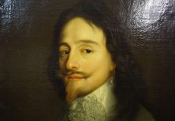 """After Sir Anthony van Dyk """"Portrait of Charles I"""" Oil on Canvas, 19th century, With prominence given"""