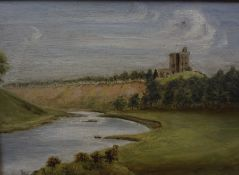 """British School """"River Landcape Scene"""" Oil on Canvas, initialed T.B.W, and dated 1912 to lower right,"""