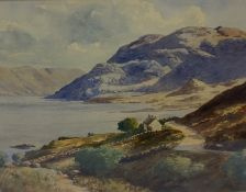"""William Deas (1876-1945) """"Loch Tay Perthshire"""" Watercolour, signed to lower right, 22cm x 29cm,"""