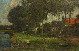 """Wilhelm Rosenstand (1838-1915) """"Ete Waterloo"""" Oil on Canvas, signed to lower right, 36cm x 60cm,"""