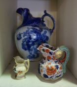 A Quantity of Victorian and Later Pottery, To include a toilet jug by Doulton, plates etc, (8)
