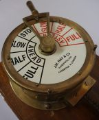 A Pair of Brass Ships Telegraph Indicators by J.W. Ray & Co Liverpool and London, circa early 20th