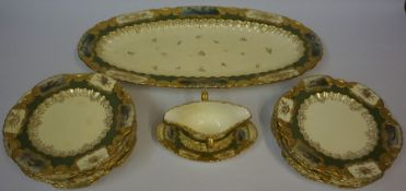 A Coalport Porcelain Fish Service, circa early 20th century, stamped for Davia Collamere fifth
