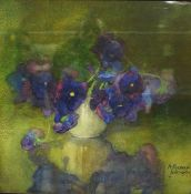 """Agnes Raeburn RSW (1872-1955) """"Still Life of Anemones"""" Watercolour, signed and dated June 1897 to"""