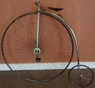 """A 52 inch Penny Farthing """"The British Challenge"""" Made by Singer & Co Coventry, circa late 19th /"""