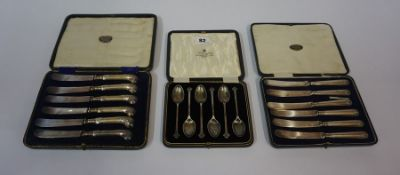 A Set of Six Silver Coffee Spoons, Hallmarks for Sheffield, circa early 20th century, Having triform