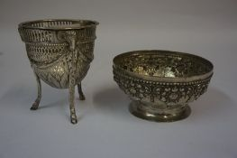 An Adams Style Silver Sweetmeat Style Bowl, Hallmarks for Sheffield, circa late 19th century,