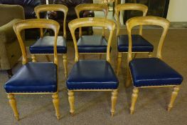 A Set of Six Late Victorian Dining Chairs, Manufactured by John Taylor & Sons Edinburgh, Having a