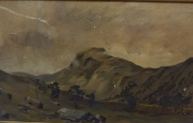 Three Various Oils on Canvas, In gilt frames, also with two oils on boards, one example depicting