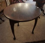 A Charles II Style Supper Table, circa 19th century, The circular top raised on splayed legs with