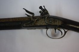 James Scott Canongate Edinburgh 1762-1790, A Double Barrel Flintlock Sporting Gun, circa 1780,
