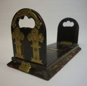 A Pair of Victorian Coromandel and Brass Mounted Book Slides, 34cm, 41cm long, (2)
