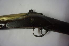 W.Parker London, A Brass Barrelled Blunderbus, circa 18th century, Having a walnut stock, complete