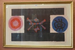 """Michael Rothenstein RA (British 1908-1993) """"Abstract"""" Limited Edition Print, Possibly a Lino cut,"""
