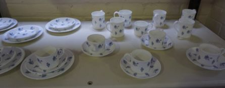 """A Crown Staffordshire """"Elsinore"""" Pattern Part Tea and Coffee Set, 29 pieces"""