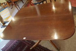 A Mahogany Snap Action Supper Table, circa late 19th / early 20th century, The rectangular tilt
