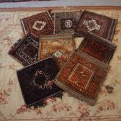 Eight Afghan Saddle Bags, Having assorted designs, 30cm x 30xm, (8)
