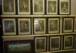 """A Quantity of """"Cries of London"""" Print Engravings, 36cm x 27.5cm, in ebonised frames, (13), also with"""