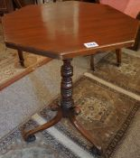 A Georgian Mahogany Octagonal Tea / Occasional Table, In the manner of Thomas Chippendale, The