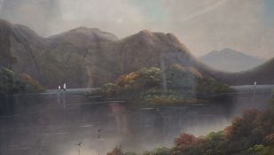 """W.Collins (Scottish) """"Loch Ness"""" and """"Loch Maree"""" Pair of Oils on Board, circa early 20th century,"""