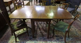 A Vintage Mahogany Drop Leaf Table, 75cm high, 107cm long, 67cm wide, also with five assorted