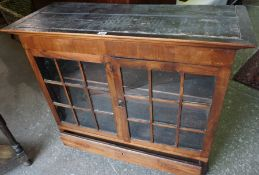 A Mahogany Cabinet Top, circa 19th century, Having two glazed doors, enclosing a shelved interior,