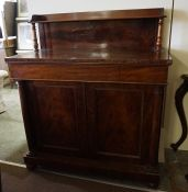 A Victorian Mahogany Chiffonier, Having a shelved superstructure, above a large drawer and two