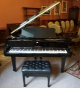 A Yamaha Conservatory Concert Piano, Model C3, No B1973479, In a polished ebonised case, having a