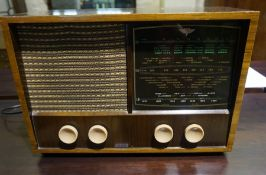 A Vintage Valve Radio by KB, circa 1950s, fitted for electricity, 58cm high, 41cm wide