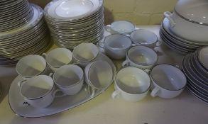 A Royal Doulton Arlington Pattern Porcelain Dinner Set, 71 pieces, Also with a German part tea and