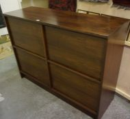A Retro Rosewood Stereo Unit by Cado, After Poul Cadovius, (Danish) Having four sliding doors,