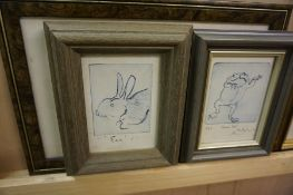 A Quantity of Prints, Also to include a set of four bird subject pictures, approximately 19 in