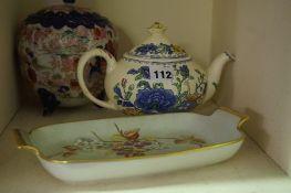 A Quantity of Bric a Brac, To include a Masons Regency pattern tea pot, a pair of Carlton ware