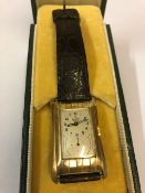 A Gold Rolex Prince Chronometre Wristwatch, circa 1930s, Having a silvered dial with subsidiary