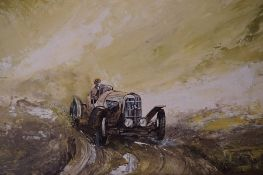 """Neil Simone (British 1947-) """"1926 Panhard"""" Oil on Board, signed Simone to lower right, 45cm x 64."""