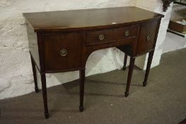 A Regency Style Mahogany Sideboard, circa early 20th century, Having a drawer flanked with a