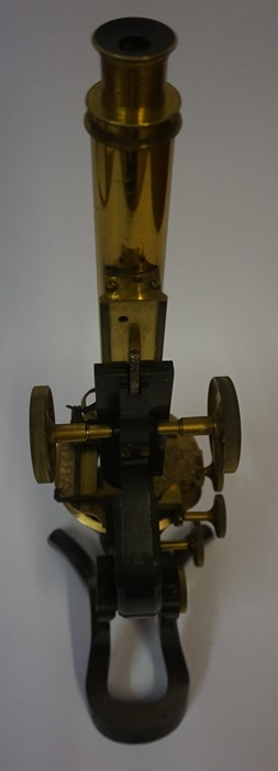 "Lot 13 - A Lacquered and Brass ""Paragon"" Binocular Microscope, By J.Swift & Son London, circa late 19th /"
