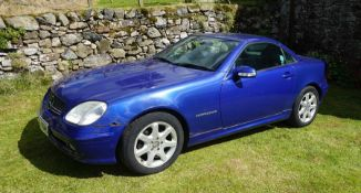 2000 Mercedes Benz SLK230K Chassis No: WDB1704492F174346 Engine No: 11198322001162 Reg: W889MBB