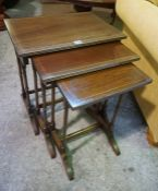 A Mahogany Nest of Three Tables, having three graduated tables, largest 54cm high, also with a