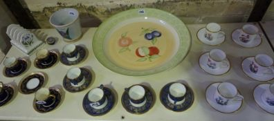 A Quantity of China, To include a six piece Royal Worcester coffee set, (12) part coffee sets by