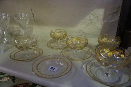 A Quantity of Decorative Crystal and Glass, Comprising of a set of eight Edinburgh crystal finger