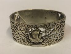 A Scottish Silver Celtic Design Buckle Bracelet, Hallmarks for Robert Allison Glasgow 1900,