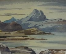 """Stirling Gillespie """"Ben More from Loch Tuath Mull"""" Watercolour, signed to lower left, 18cm x 22cm,"""