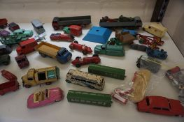 A Quantity of Dinky Toy Vehicles by Meccano, Also with a toy fort by Dinky Toys, approximately 50 in