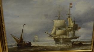 """Six Ship and Galleon Themed Prints after Famous Artists, To include after John Wilson Carmichael """""""