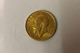 A George V Gold Sovereign, Dated 1912, 8 grams