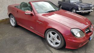 2001 Mercedes Benz SLK320, V6, Automatic Chassis No: WDB1704652F216520 Engine No: 11294730928930