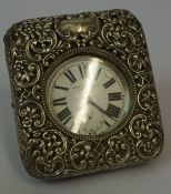 A Silver Goliath Pocket Watch by West End Watch Co, Swiss made, Having a subsidiary seconds dial,