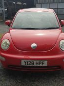 2001, VW Beetle, 2.0L Auto, red with beige cloth interior, sunroof, partial history, MOT Jan 20,
